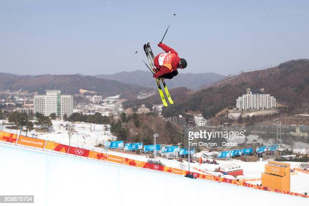 Kevin Rolland of France in action during the Freestyle Skiing Men's Ski Halfpipe qualification day at Phoenix Snow Park on February 20 2018 in...