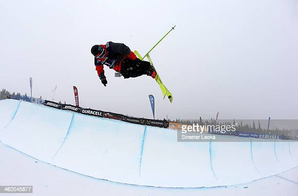 Kevin Rolland of France practices ahead of the men's freeskiing halfpipe final on day 5 of the US Snowboarding and Freeskiing Grand Prix Breckenridge...