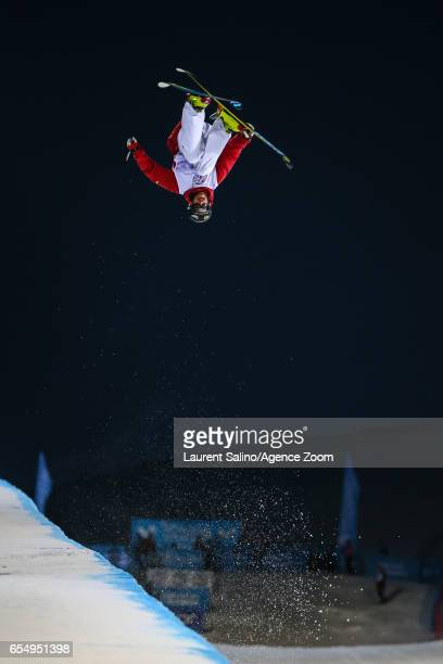 Kevin Rolland of France wins the bronze medal during the FIS Freestyle Ski Snowboard World Championships Halfpipe on March 18 2017 in Sierra Nevada...
