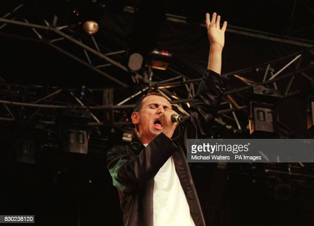Kevin Rowland formerly singer with the band Dexy's Midnight Runners performs on stage at the Reading Festival