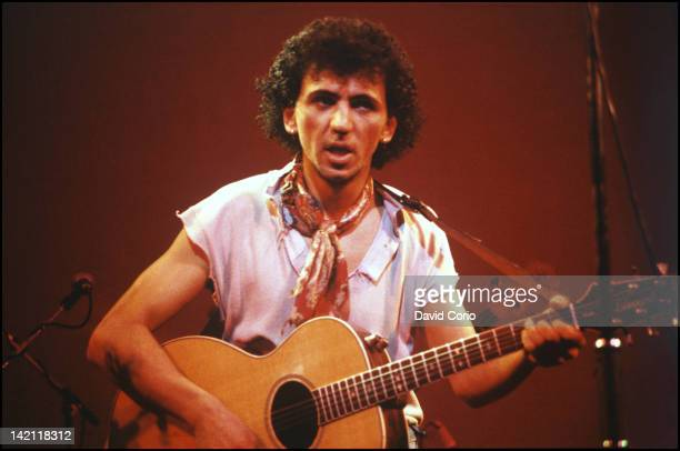 Kevin Rowland of Dexys Midnight Runners performing live on stage at the The Venue London in 1982