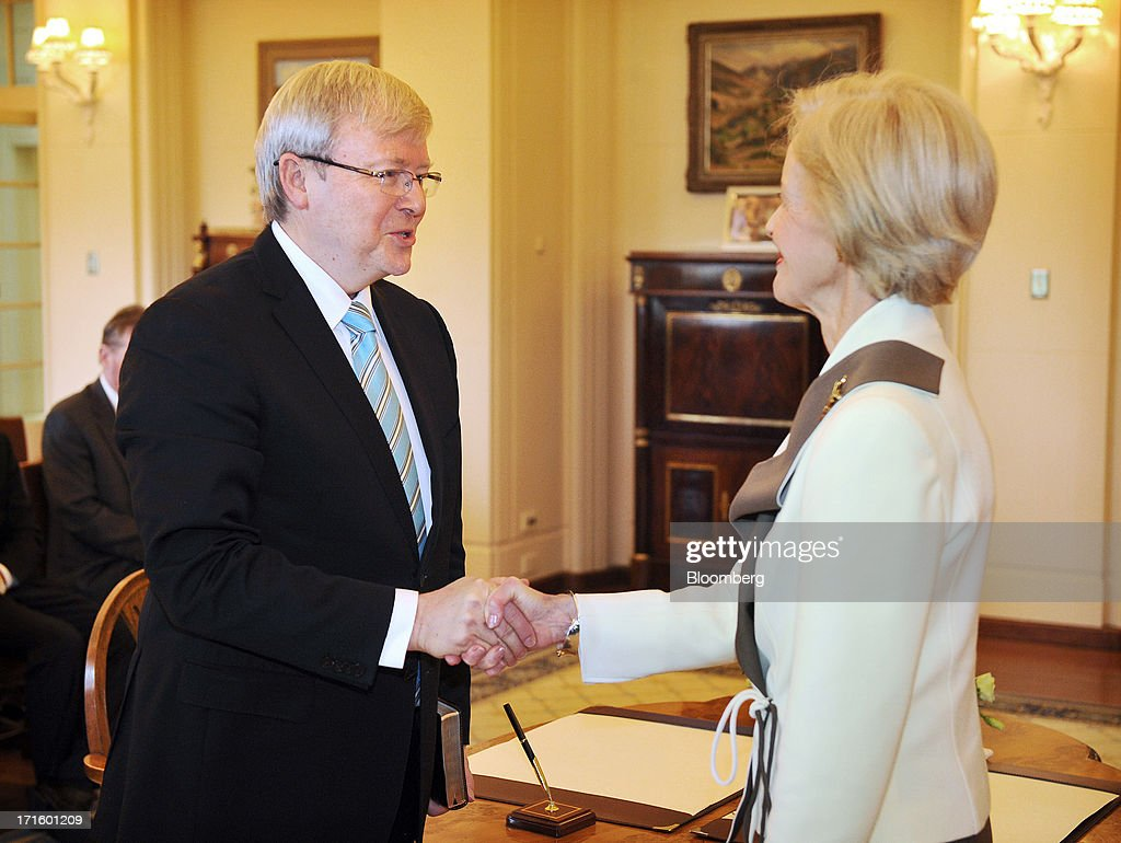 Kevin Rudd Sworn In As Australia's Prime Minister Following Leadership Spill