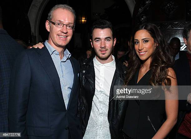 Kevin Ryan Kevin Jonas and Danielle Deleasa attend as Jason Binn Nicole Vecchiarelli And Kevin Ryan Celebrate DuJour Magazine's Special Gamechangers...
