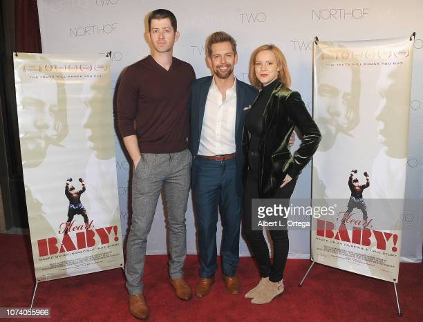 Kevin Ryan ShawnCaulin Young and Nina Rouch arrive for the premiere of 'Heart Baby' held at The Ahrya Fine Arts Laemmle Theater on November 23 2018...