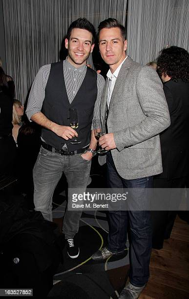 Kevin Sacre and Matt Evers attend an after party celebrating the press night performance of 'Burn The Floor' at the Trafalgar Hotel on March 11 2013...