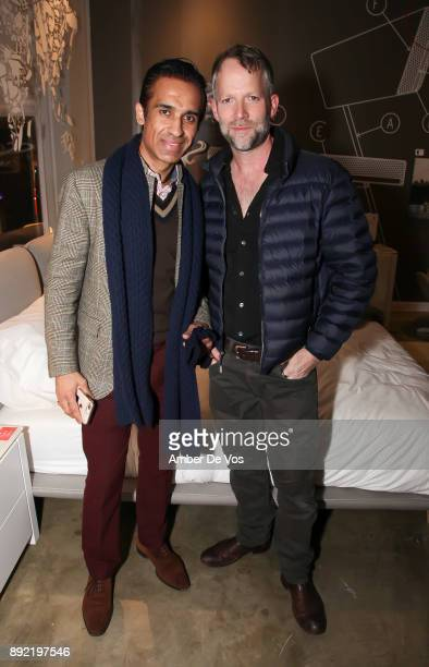 Kevin Sadhnani and David Rossman attend Niki Shaokao Cheng's Annual Holiday Party at Calligaris SoHo on December 13 2017 in New York City
