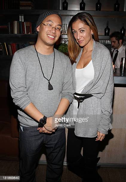 Kevin Saer Leong and Jen Yu attend a Hennessey Black party to celebrate DJ DNice signing to Roc Nation DJ's at The Cooper Square Hotel on November 16...