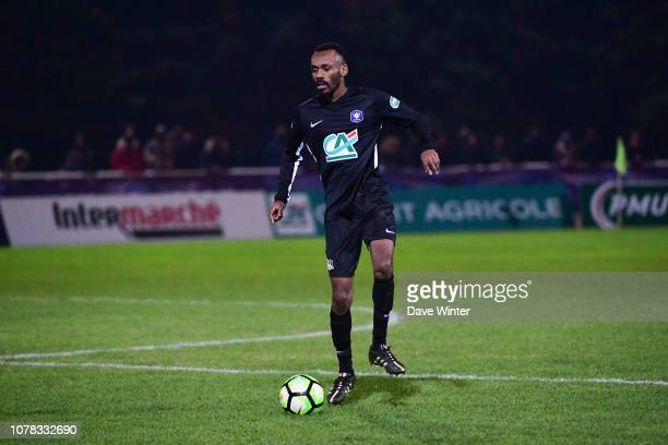 Kevin Sakaya of Noisy Le Grand FC during the French Cup match between Noisy le Grand and Gazelec Ajaccio on January 6 2019 in Bonneuil Sur Marne...