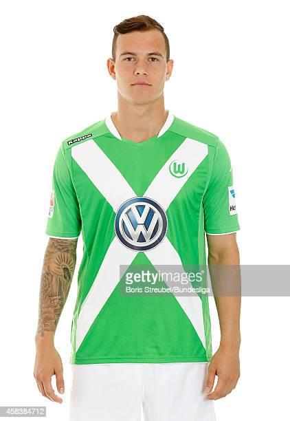 Kevin Scheidhauer of VfL Wolfsburg poses during the team presentation on July 30 2014 at Volkswagen Arena in Wolfsburg Germany
