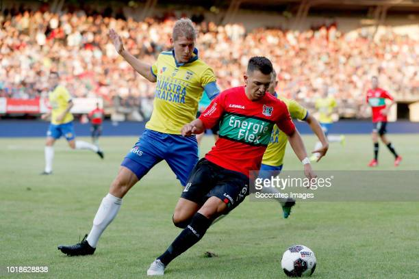 Kevin Schindler of SC Cambuur, Brahim Darri of NEC Nijmegen during the Dutch Keuken Kampioen Divisie match between NEC Nijmegen v SC Cambuur at the...