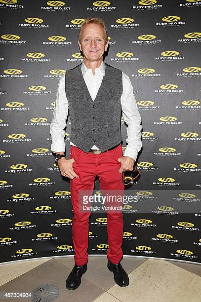 Kevin Schwantz attends a party for 'Rudy Project' 30th Anniversary Party during the 72nd Venice Film Festival at Granai dell'Hotel Cipriani on...