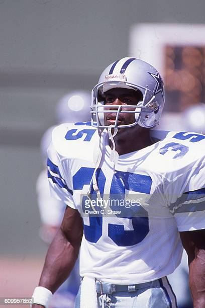 Kevin Scott of the Dallas Cowboys circa 1989 against the San Diego Chargers at Jack Murphy Stadium in San Diego California