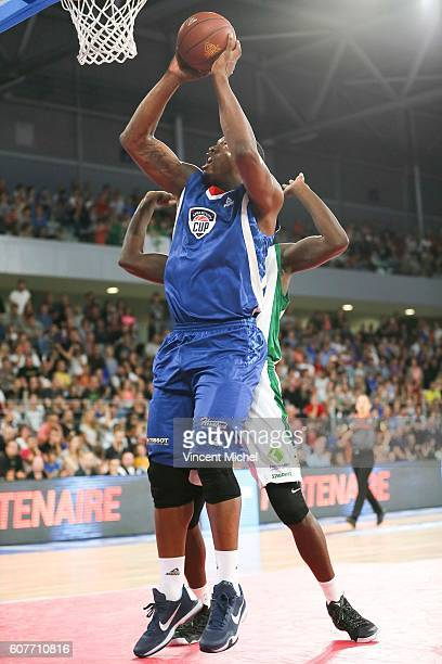 Kevin Seraphin during the Appart City Cup match between Nantes and Nanterre at Salle Metropolitaine on September 18 2016 in Reze France