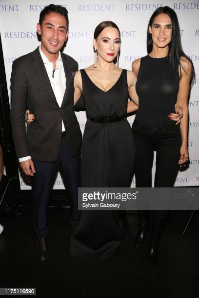 Kevin Shahroozi Janel Tanna and Aya Islamova attend Janel Tanna's Cover Party By Resident Magazine at Philippe Chow on October 9 2019 in New York City