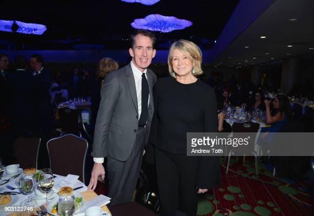 Kevin Sharkey and TV Personality Enterpreneur Martha Stewart attend the 81st Annual YMA Fashion Scholarship Fund National Merit Scholarship Awards...