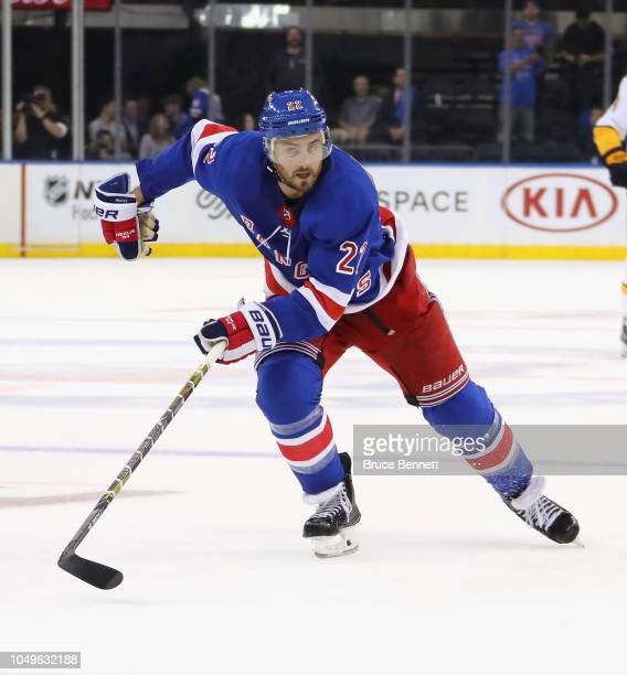 Kevin Shattenkirk of the New York Rangers skates against the Nashville Predators at Madison Square Garden on October 04 2018 in New York City The...