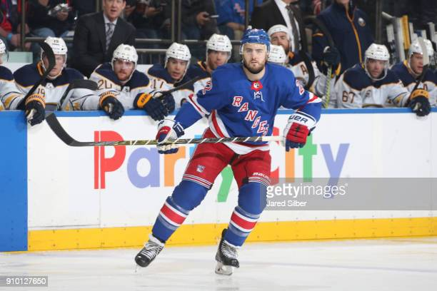 Kevin Shattenkirk of the New York Rangers skates against the Buffalo Sabres at Madison Square Garden on January 18 2018 in New York City The New York...