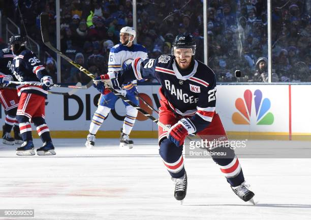 Kevin Shattenkirk of the New York Rangers skates in the first period during the 2018 Bridgestone NHL Winter Classic between the New York Rangers and...