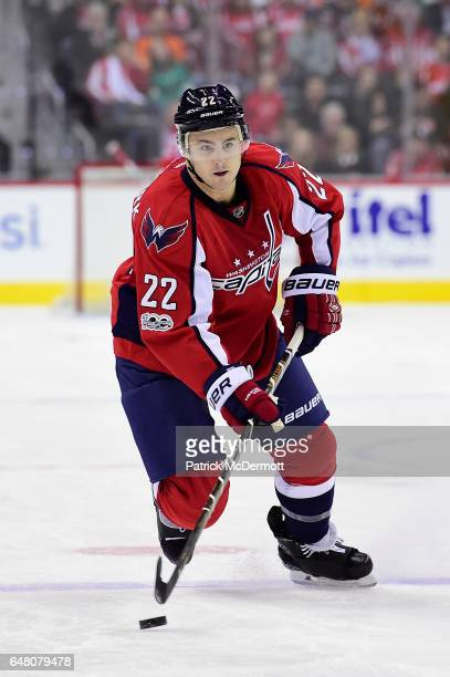 Kevin Shattenkirk of the Washington Capitals skates with the puck in the third period against the Philadelphia Flyers during an NHL game at Verizon...