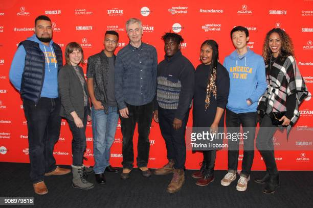 Kevin Shaw Rebecca Parish Grant Lee Steve James Kendale McCoy Jada Buford Bing Liu and Jess Stovall attend the America To Me during the 2018 Sundance...