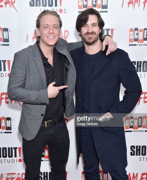 """Kevin Shulman and Eoin Macken attend the Los Angeles Premiere of Roxwell Films """"I Am Fear"""" at Laemmle Monica Film Center on February 20 2020 in Santa..."""