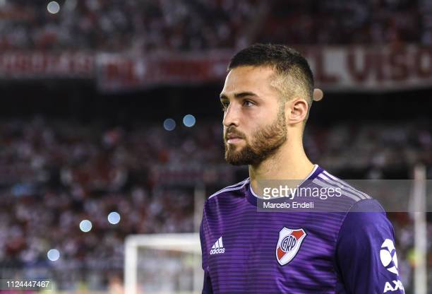 Kevin Sibille of River Plate looks on before a match between River Plate and Union as part of Round 12 of Superliga 2018/19 at Estadio Monumental...