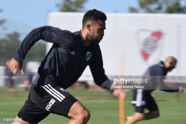 Kevin Sibille of River Plate runs during a training session at River Camp Ezeiza on March 21 2019 in Buenos Aires Argentina