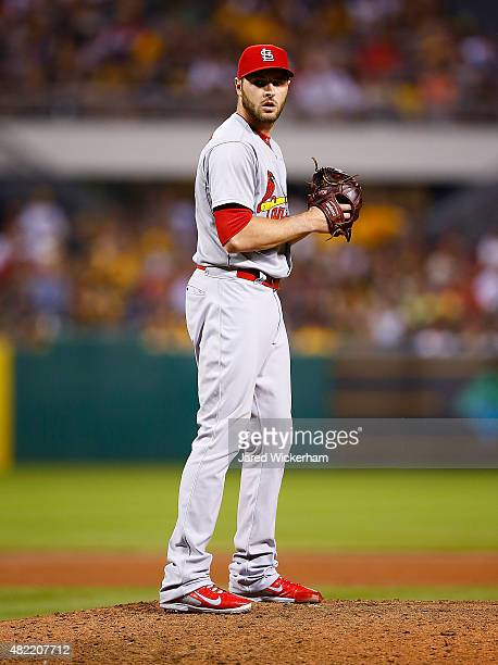 Kevin Siegrist of the St Louis Cardinals pitches against the Pittsburgh Pirates during the game at PNC Park on July 11 2015 in Pittsburgh Pennsylvania