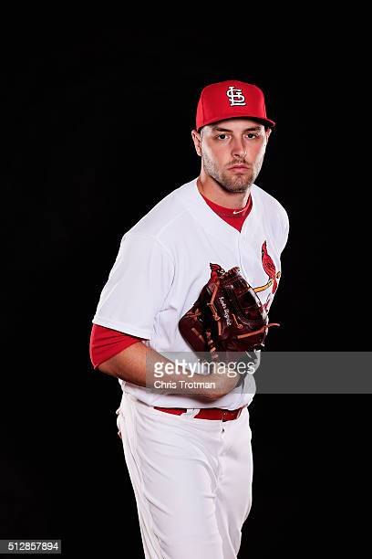 Kevin Siegrist of the St Louis Cardinals poses for a photograph at Spring Training photo day at Roger Dean Stadium on February 25 2016 in Jupiter...
