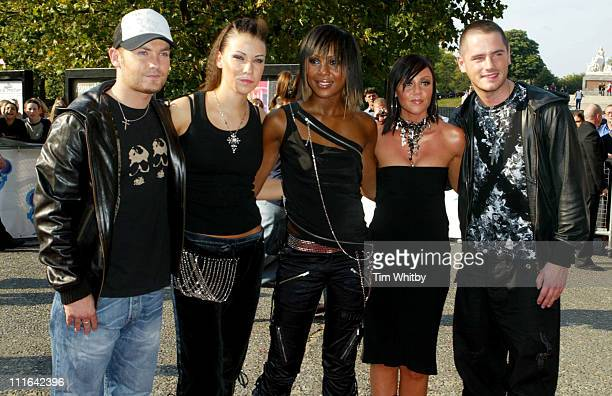 Kevin Simm Jessica Taylor Kelli Young Michelle Heaton and Tony Lundon of Liberty X