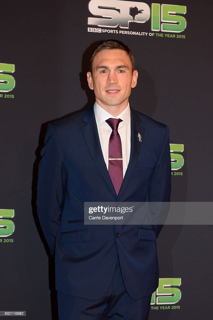Kevin Sinfield attends the BBC Sports Personality of the Year award at Odyssey Arena on December 20, 2015 in Belfast, Northern Ireland.