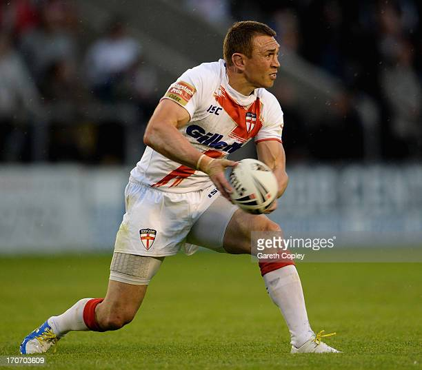 Kevin Sinfield of England during the International Origin Match between England and Exiles at The Halliwell Jones Stadium on June 14 2013 in...
