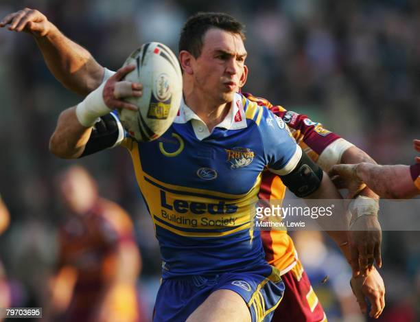 Kevin Sinfield of Leeds Rhinos in action during the engage Super League match between Huddersfield Giants and Leeds Rhinos at the Galpharm Stadium on...
