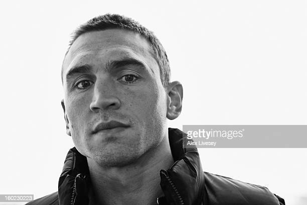 Kevin Sinfield of Leeds Rhinos poses for a portrait at the 2013 Super League Media Launch at Etihad Stadium on January 28 2013 in Manchester England