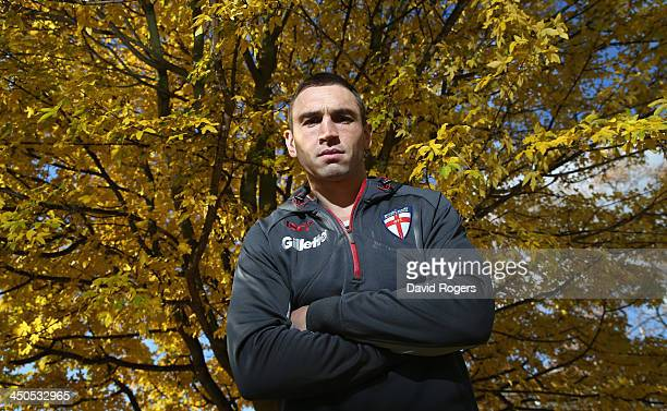 Kevin Sinfield the England captain poses during the England media session held at Loughborough University on November 19 2013 in Loughborough England