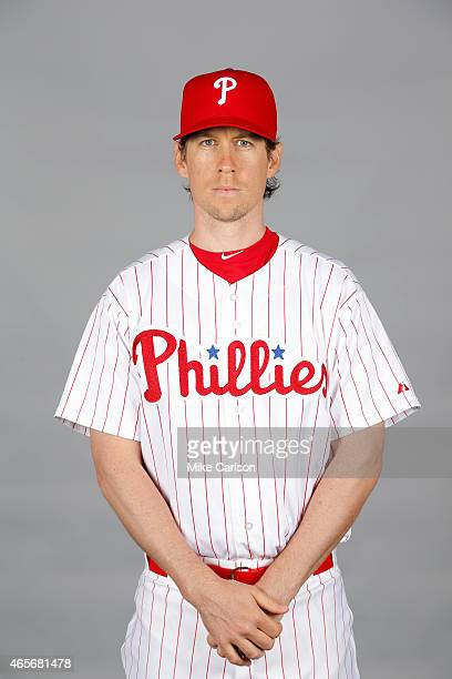 Kevin Slowey of the Philadelphia Phillies poses during Photo Day on Friday February 27 2015 at Bright House Field in Clearwater Florida