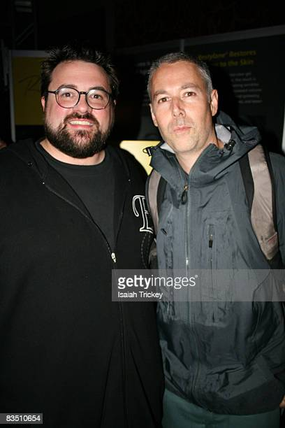 Kevin Smith and Adam Yauch of the Beastie Boys attend the Film Lounge party for Zack and Miri Make a Porno party September 7 2008 in Toronto Canada