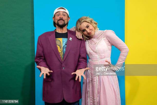 Kevin Smith and Harley Quinn Smith of 'Jay and Silent Bob Reboot' are photographed for Los Angeles Times at ComicCon International on July 20 2019 in...