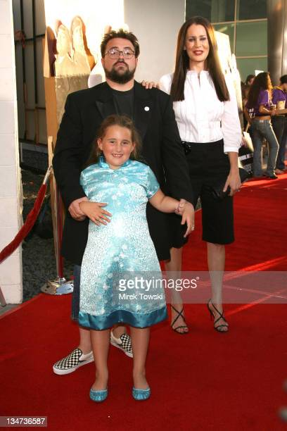 Kevin Smith and his wife Jennifer Schwalbach Smith and daughter Harley Quinn Smith