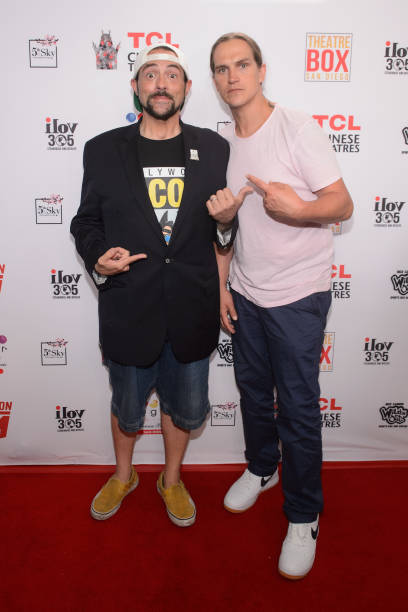 CA: Kevin Smith And Jason Mewes Honored With TCL Chinese Theatre Handprint Ceremony At Theatre Box