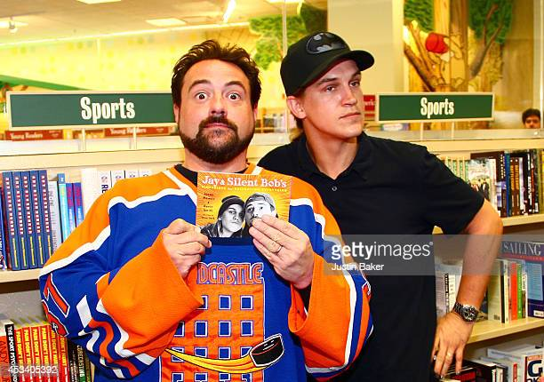 """Kevin Smith and Jason Mewes attend a book signing for """"Jay & Silent Bob's Blueprints For Destroying Everything"""" at Barnes & Noble bookstore at The..."""