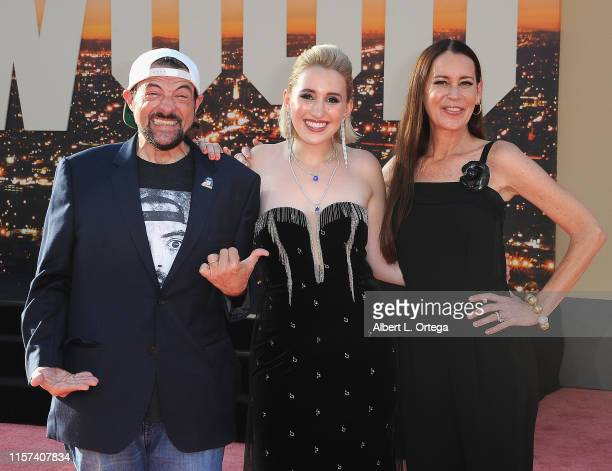 Kevin Smith and Jennifer Schwalbach Smith arrive for the Sony Pictures' Once Upon A TimeIn Hollywood Los Angeles Premiere held at the TCL Chinese...