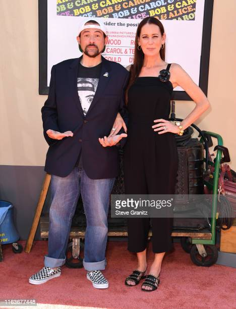 Kevin Smith and Jennifer Schwalbach Smith arrives at the Sony Pictures' Once Upon A TimeIn Hollywood Los Angeles Premiere on July 22 2019 in...
