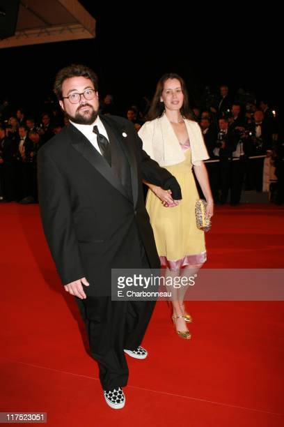 Kevin Smith and Jennifer Schwalbach Smith during 20th Century Fox Premiere of XMen The Last Stand at Palais des Festivals in Cannes France