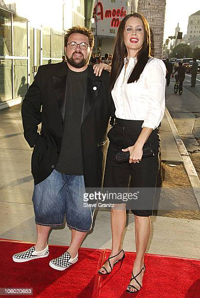 Kevin Smith and Jennifer Schwalbach Smith during Clerks II Los Angeles Premiere Arrivals at ArcLight Theatre in Hollywood California United States