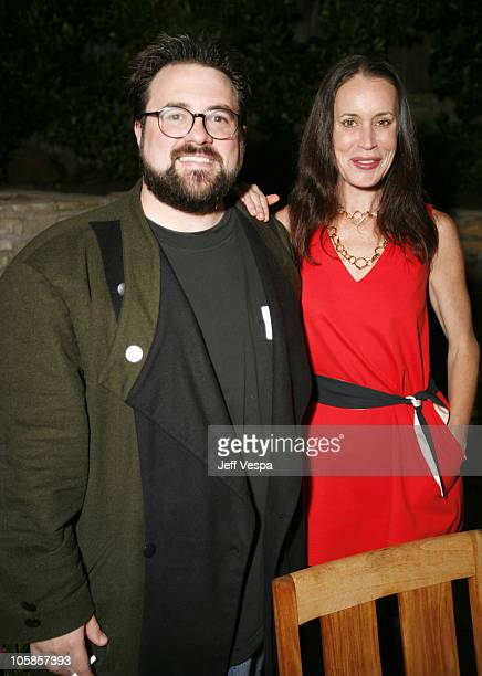 Kevin Smith and Jennifer Schwalbach Smith during Young Hollywood Reception with Senator Hillary Clinton Hosted by Brett Ratner at Hillhaven Lodge in...