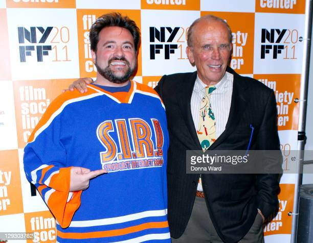 Kevin Smith and Peter Weller attend 49th Annual New York Film Festival screening of The Adventures of Buckaroo Banzai Across the 8th Dimension at...