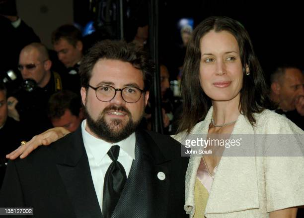 Kevin Smith and wife Jennifer during 2006 Cannes Film Festival XMen 3 The Last Stand Premiere at Palais des Festival in Cannes France