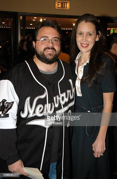 Kevin Smith and wife Jennifer Schwalbach Smith during Confessions of a Dangerous Mind Premiere at Mann Bruin Theatre in Westwood California United...