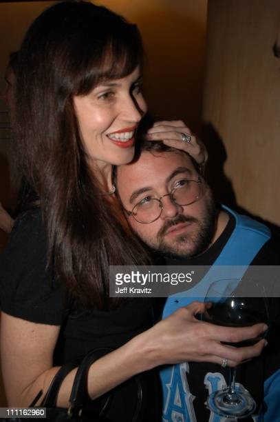 Kevin Smith and wife Jennifer Schwalbach Smith during Miramax Max Awards at St Regis Hotel in Los Angeles CA United States